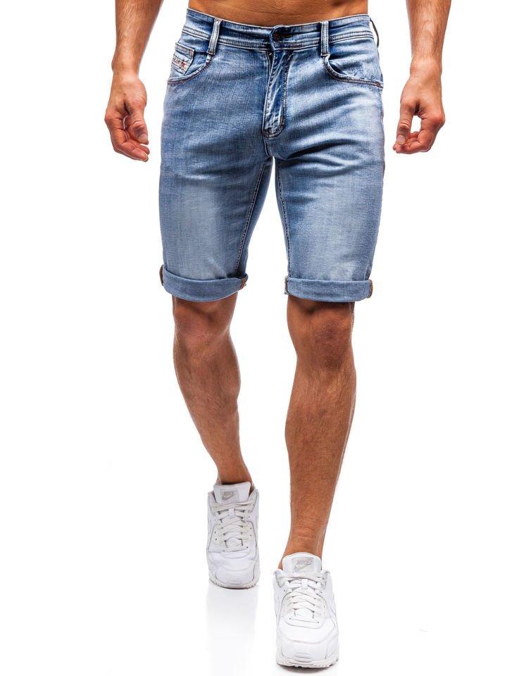 Men's Denim Shorts Blue Bolf 7759
