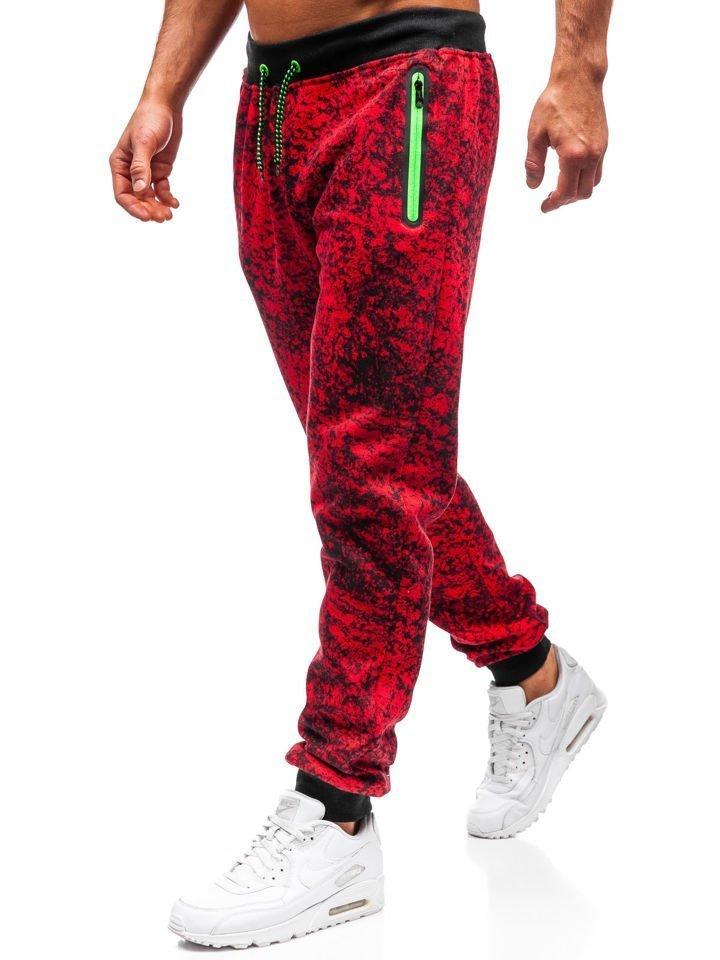 Men's Jogger Sweatpants Red Bolf 55055