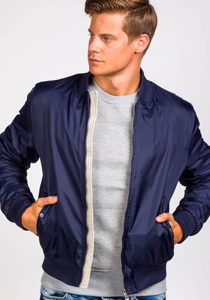 select for genuine detailed pictures buying cheap Men's Lightweight Bomber Jacket Navy Blue Bolf 169a