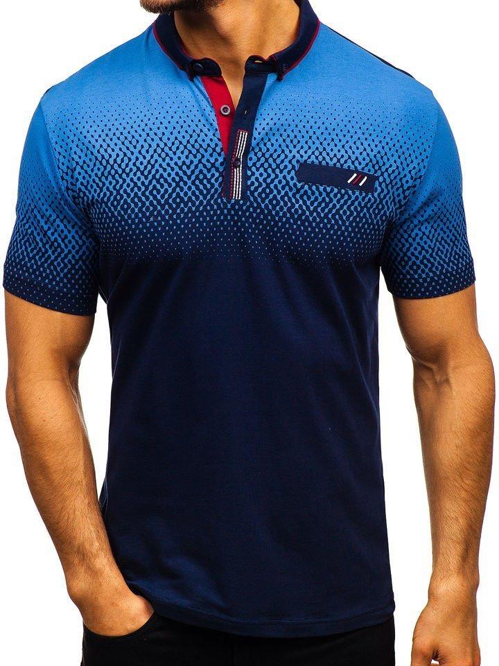 Navy Blue Men's Polo Shirt Bolf 6599 HIYeWD92bE