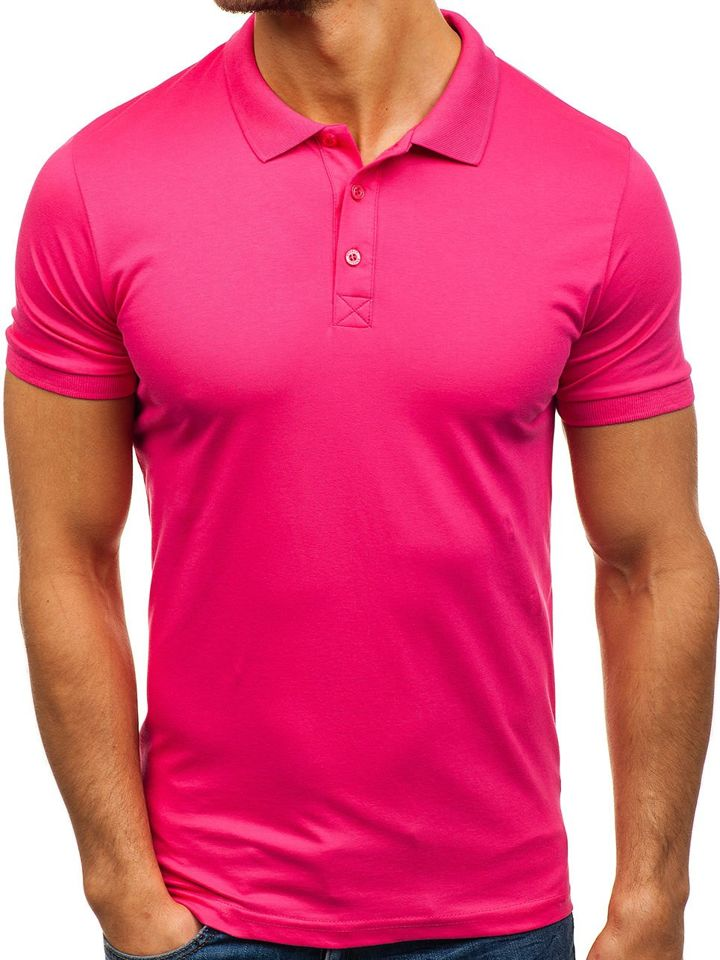 7b22ac054dc863 Men's Polo Shirt Pink Bolf 171221 PINK