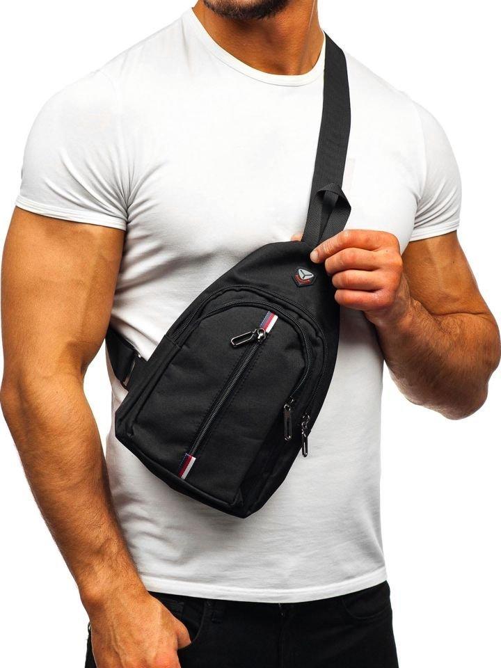 Men S Shoulder Bum Bag Black Bolf T46 Black