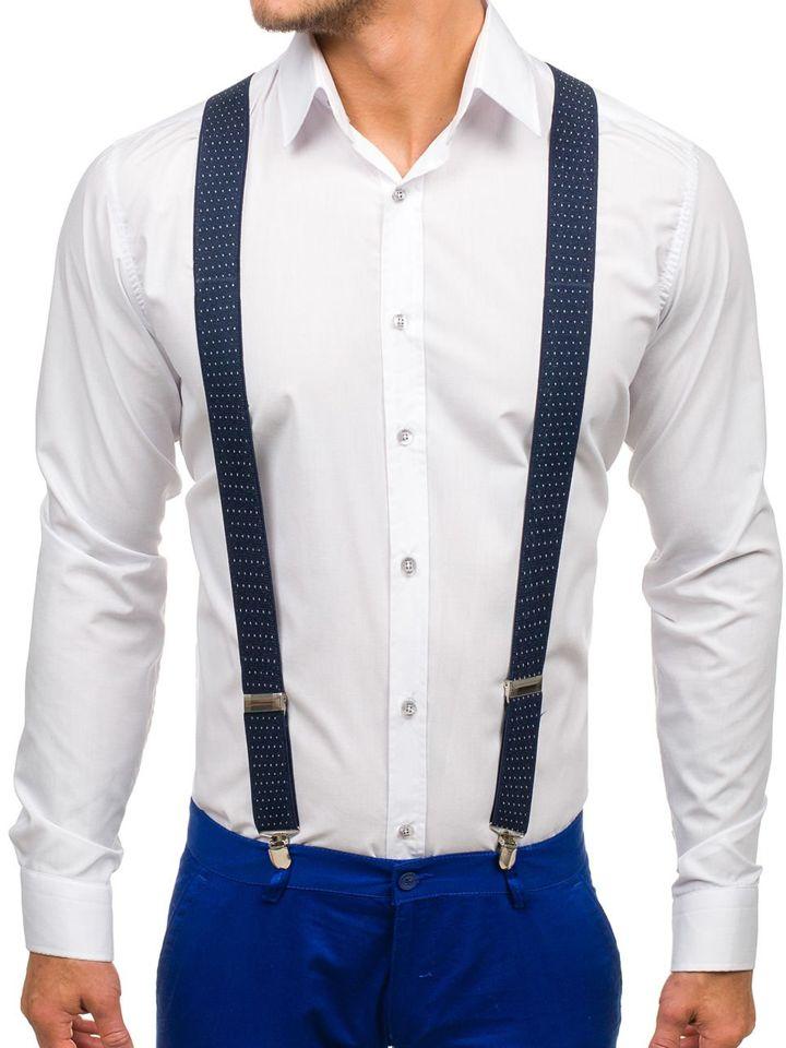 Men's Suspenders Navy Blue Bolf SZ06