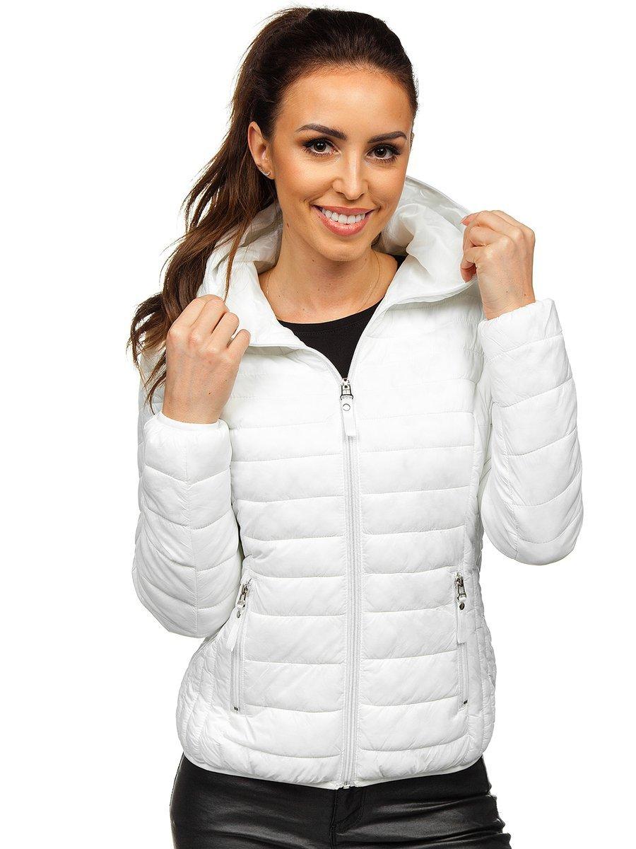 Women's Quilted Lightweight Jacket White Bolf B0101 WHITE
