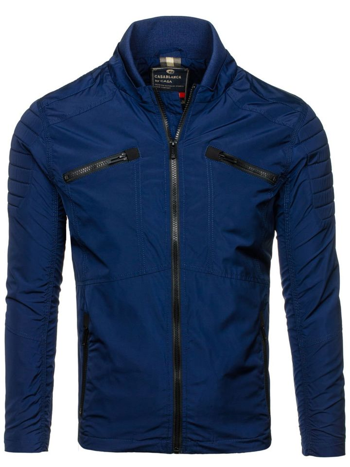 Navy Blue Men's Lightweight Jacket Bolf 118 NAVY BLUE | Men's ...