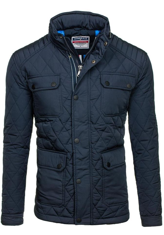 Navy Blue Men's Lightweight Jacket Bolf 1646 NAVY BLUE | Men's ...