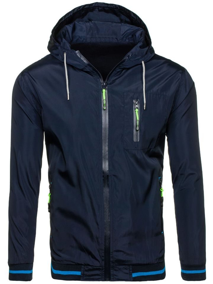 Navy Blue Men's Lightweight Jacket Bolf WK03 NAVY BLUE | Men's ...