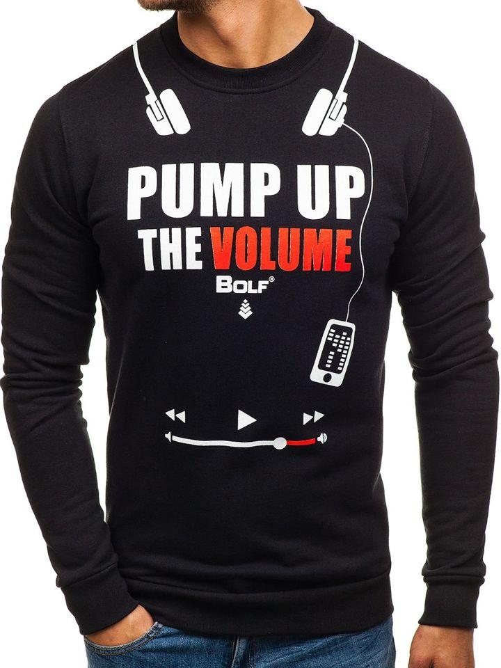 Men's Printed Sweatshirt Black Bolf 65S