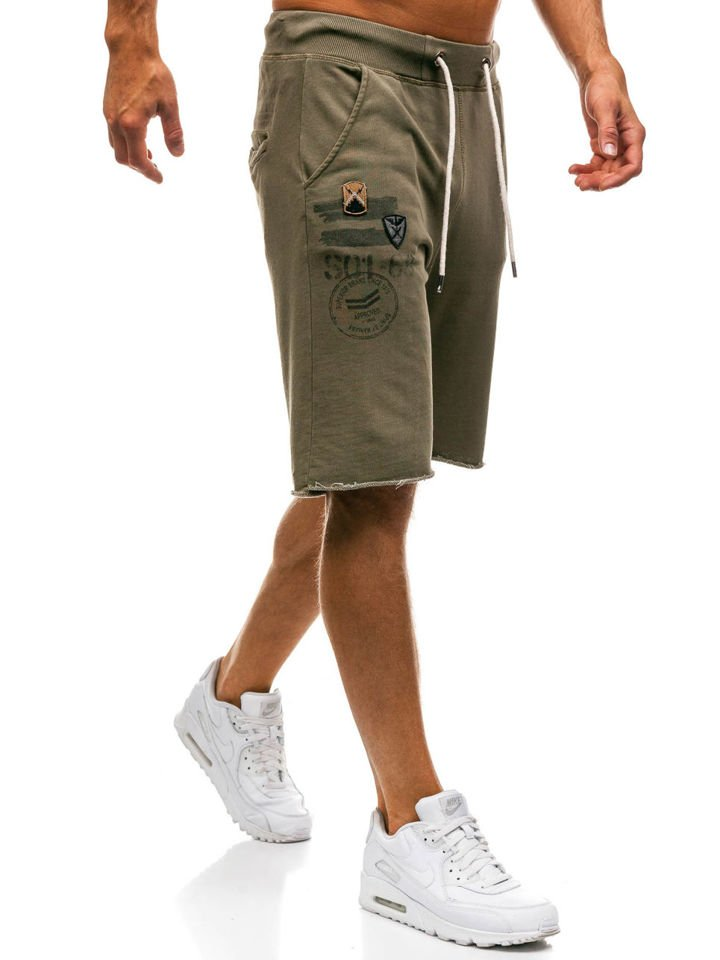 Men's Sweat Shorts Green Bolf A9601
