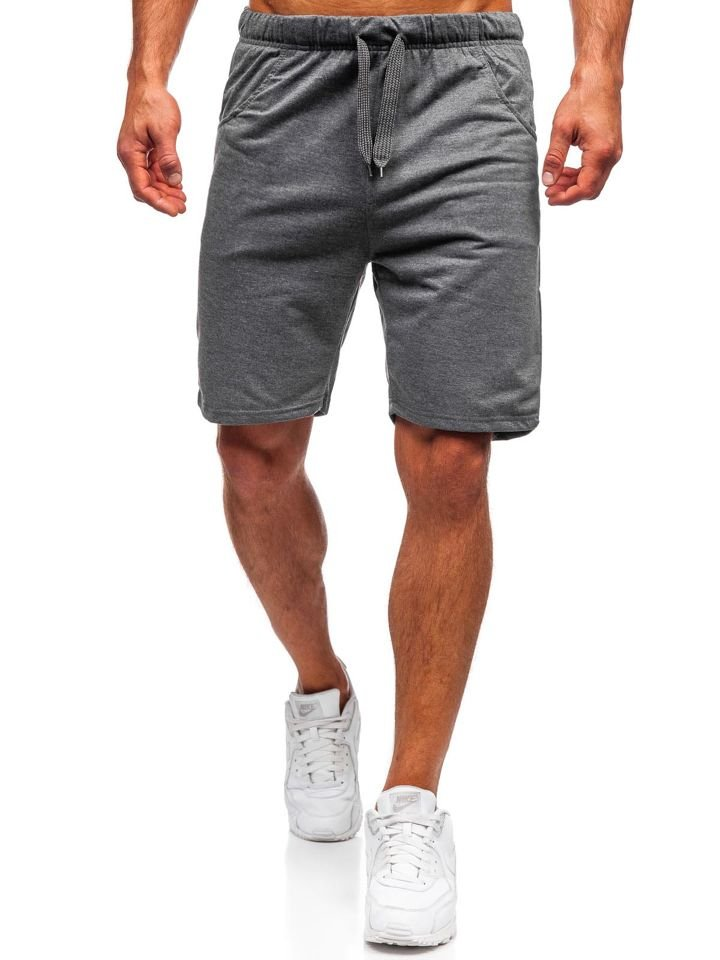 Men's Sweat Shorts Graphite Bolf B1002