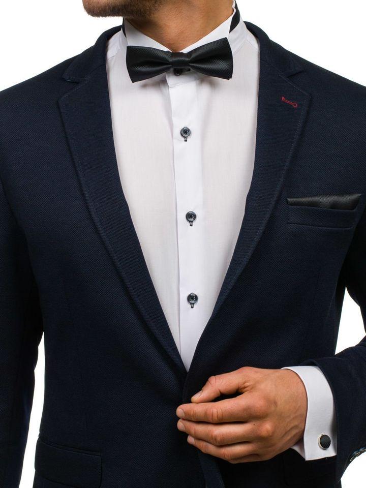 Men's Set Bow Tie, Cufflinks, Pocket Square Black Bolf MSP01