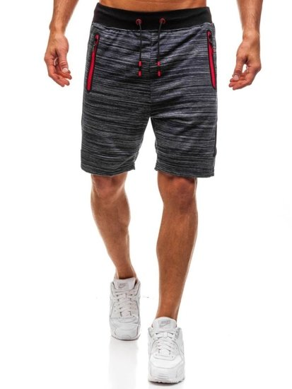 Men's Sweat Shorts Navy Blue Bolf KK219