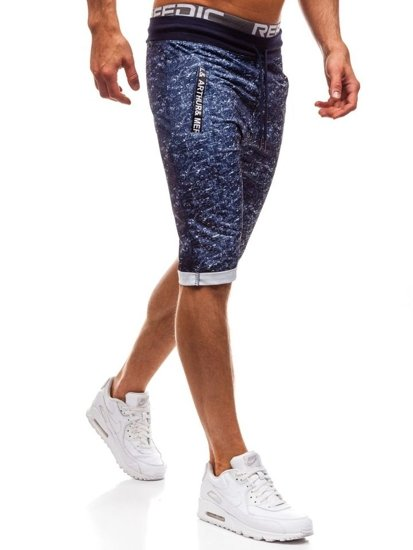 Men's Sweat Shorts Navy Blue Bolf HL8571