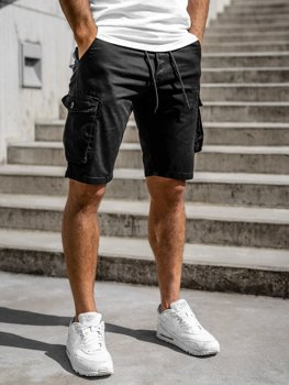 Black Men's Cargo Shorts Bolf 5011