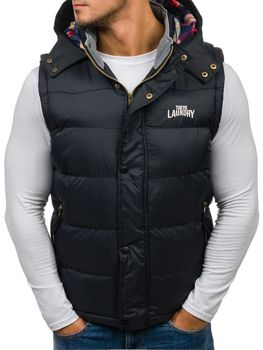Black Men's Hooded Vest Bolf 6794