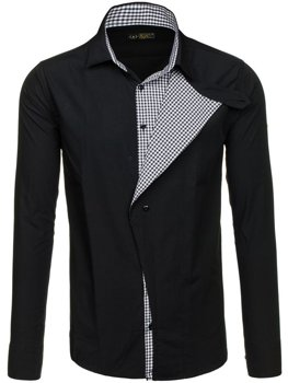 Black Men's Long Sleeve Shirt Bolf 5746