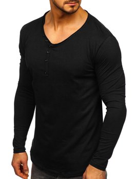 Black Men's Plain Long Sleeve Top Bolf 5059