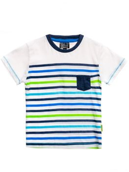Boy's Printed T-shirt White Bolf T3219