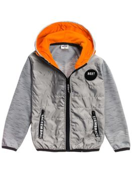 Boy's Transitional Hooded Jacket Grey Bolf HB1873