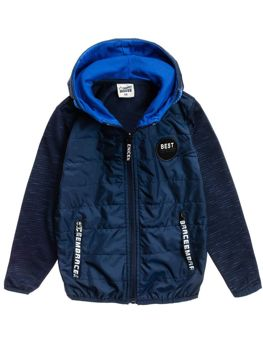 Boy's Transitional Hooded Jacket Navy Blue Bolf HB1873