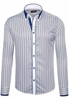 Brown Men's Striped Long Sleeve Shirt Bolf 6855