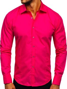 Coral Men's Elegant Long Sleeve Shirt Bolf 1703