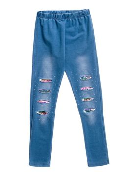 Girl's Leggings Blue Bolf HH08
