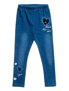 Girl's Leggings Blue Bolf WB2124