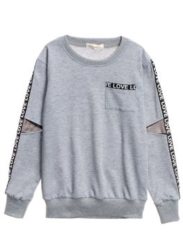 Girl's Sweatshirt Grey Bolf WB2051