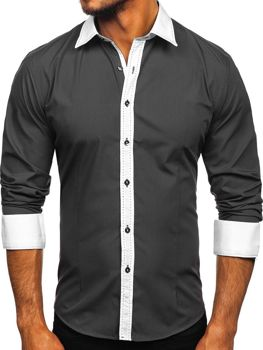 Graphite Men's Elegant Long Sleeve Shirt Bolf 6882