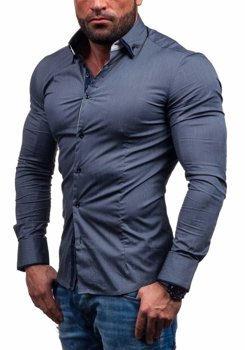 Graphite Men's Elegant Long Sleeve Shirt Bolf 7188