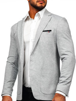 Grey Men's Elegant Suit Jacket Bolf 1652