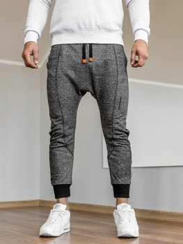 Men's Baggy Sweatpants Black Bolf Q5001
