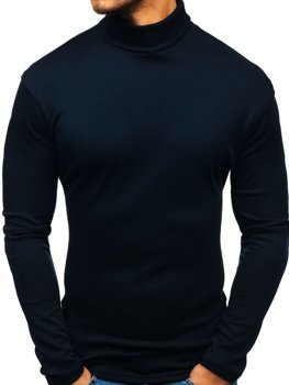 Men's Basic Turtleneck Jumper Navy Blue Bolf 145347