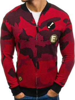 Men's Bomber Sweatshirt Camo-Red Bolf 0894