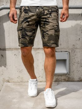 Men's Camo Cargo Shorts Green Bolf 6137