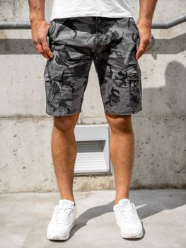 Men's Camo Cargo Shorts Grey Bolf 6137