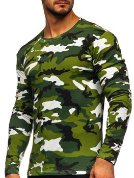 Men's Camo Long Sleeve Top Green Bolf 2088-1