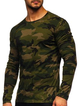 Men's Camo Long Sleeve Top Khaki Bolf 2088-1