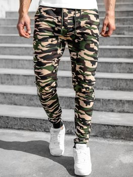 Men's Camo Sweatpants Brown Bolf 5958