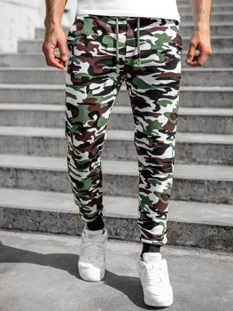 Men's Camo Sweatpants Green Bolf 5958