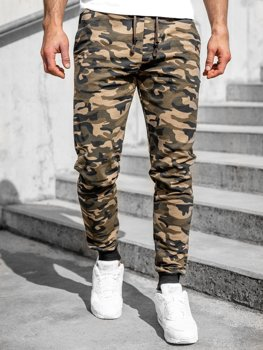 Men's Camo Sweatpants Khaki Bolf 5958