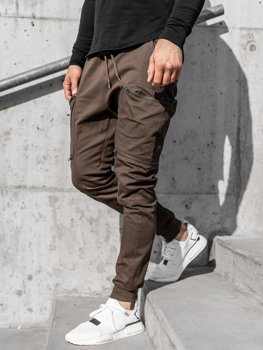 Men's Cargo Joggers Brown Bolf 0475