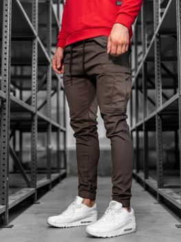 Men's Cargo Joggers Brown Bolf 1005