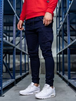 Men's Cargo Joggers Navy Blue Bolf 1005