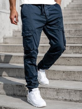 Men's Cargo Joggers Navy Blue Bolf 8956