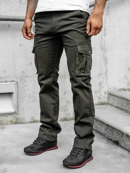 Men's Cargo Pants with Belt Green Bolf 1672