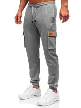 Men's Cargo Sweatpants Grey Bolf HY867