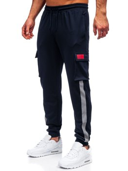 Men's Cargo Sweatpants Navy Blue Bolf HY867