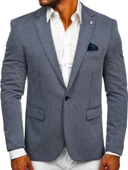 Men's Casual Blazer Navy Blue Bolf SR002